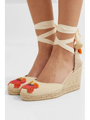 Castaner mercedes salazar carina 80 embroidered wedge espadrilles
