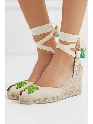 Castaner mercedes salazar carina 80 embroidered canvas wedge espadrilles