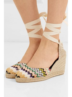 Castaner missoni carina 80 canvas wedge espadrilles