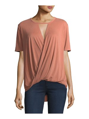 CASUAL COUTURE Surplice-Front Modal Tee