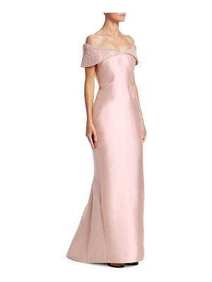 Catherine Regehr anna off-the-shoulder embellished trumpet gown