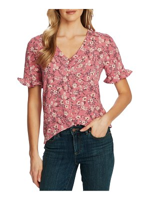 CeCe by Cynthia Steffe botanical charm print ruffle sleeve top