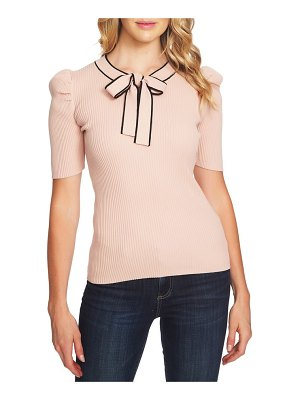 CeCe by Cynthia Steffe bow neck puff sleeve sweater