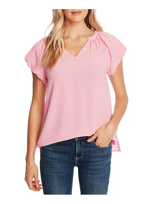 CeCe by Cynthia Steffe bubble sleeve v-neck top
