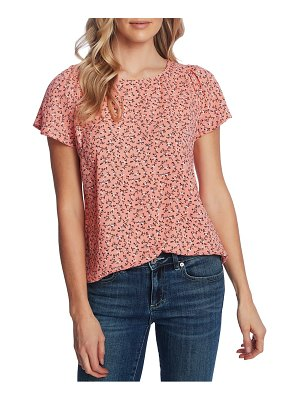 CeCe by Cynthia Steffe budding floral short sleeve top