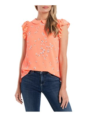 CeCe by Cynthia Steffe ditsy floral peter pan collar blouse