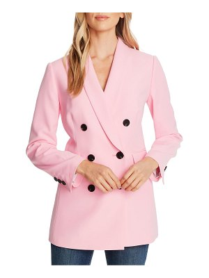 CeCe by Cynthia Steffe double breasted twill blazer