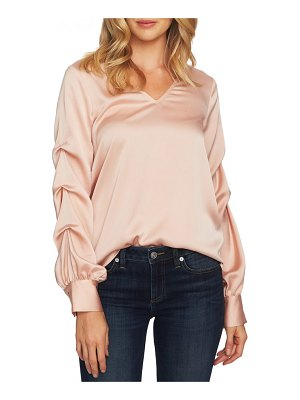 CeCe by Cynthia Steffe drape sleeve v-neck blouse