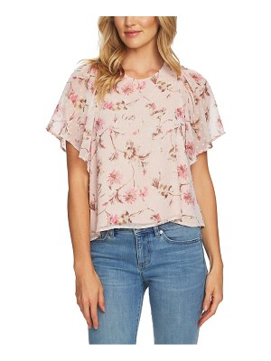 CeCe by Cynthia Steffe duchess floral flutter sleeve blouse
