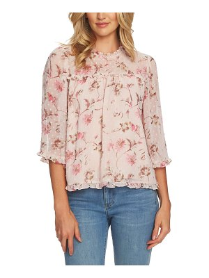 CeCe by Cynthia Steffe duchess floral ruffle blouse