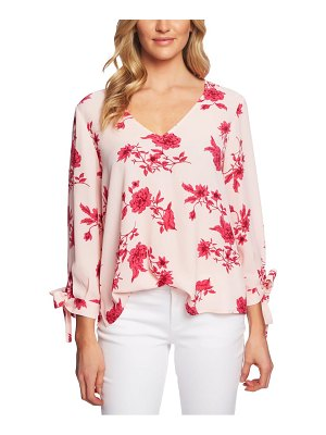CeCe by Cynthia Steffe etched floral blouse