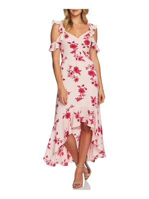 CeCe by Cynthia Steffe etched floral high/low midi dress