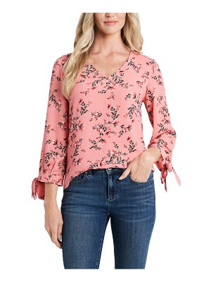 CeCe by Cynthia Steffe flora tie sleeve blouse