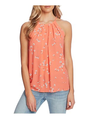 CeCe by Cynthia Steffe floral print sleeveless halter top