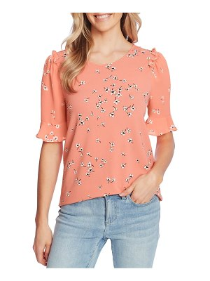 CeCe by Cynthia Steffe floral ruffle top