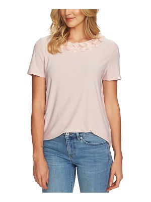 CeCe by Cynthia Steffe floral trim top