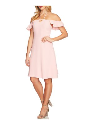 CeCe by Cynthia Steffe flutter sleeve halter neck dress