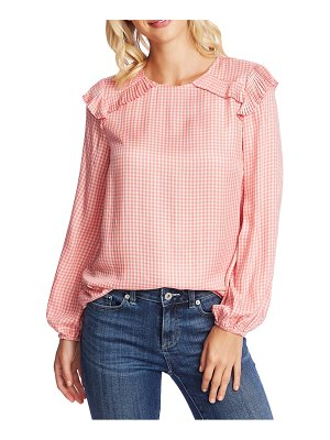 CeCe by Cynthia Steffe gingham refresh pleat detail top