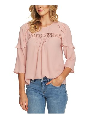 CeCe by Cynthia Steffe lace inset blouse