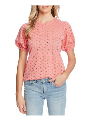 CeCe by Cynthia Steffe puff sleeve eyelet top