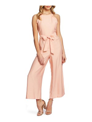 CeCe by Cynthia Steffe ruffle halter neck jumpsuit