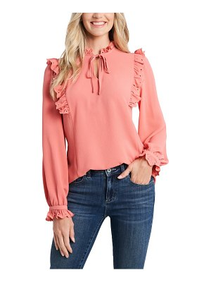 CeCe by Cynthia Steffe ruffle neck long sleeve blouse