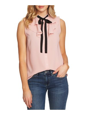 CeCe by Cynthia Steffe ruffled tie neck top