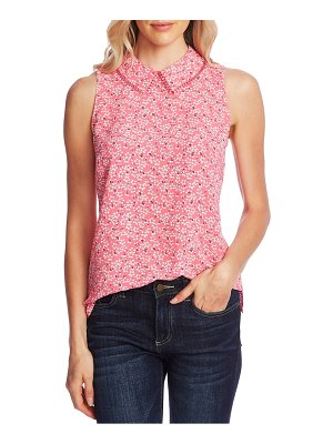 CeCe by Cynthia Steffe sakura delight print peter pan collar sleeveless blouse
