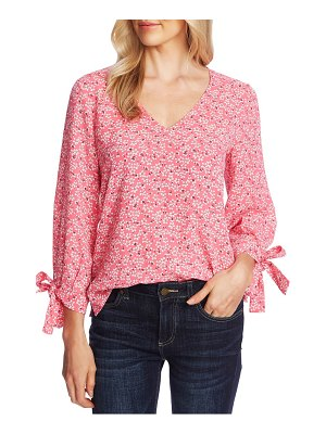 CeCe by Cynthia Steffe sakura delight tie sleeve top