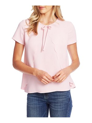CeCe by Cynthia Steffe scalloped crepe blouse