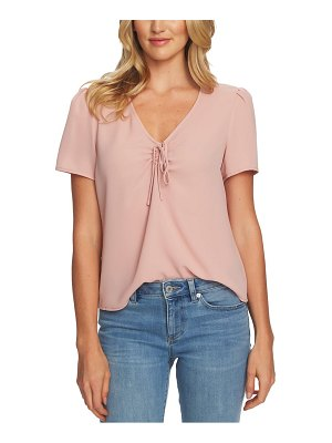 CeCe by Cynthia Steffe tie neck crepe top