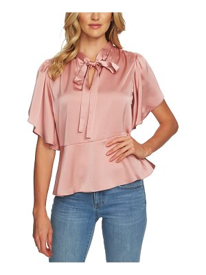 CeCe by Cynthia Steffe tie-neck satin blouse