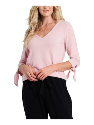 CeCe by Cynthia Steffe tie sleeve knit top