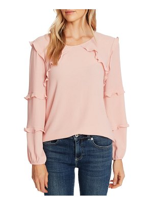 CeCe by Cynthia Steffe tiered ruffle long sleeve blouse