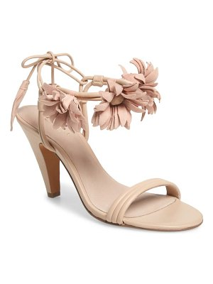 CECELIA NEW YORK flower ankle wrap sandal