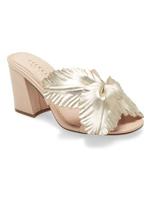 CECELIA NEW YORK hibiscus slide sandal