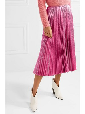 CÉDRIC CHARLIER pleated lurex midi skirt