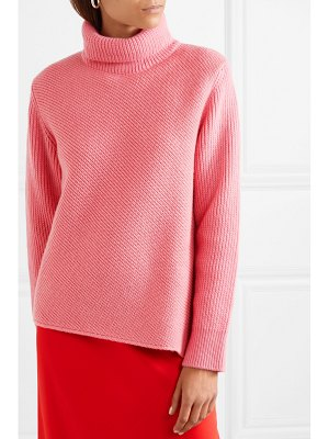 CÉDRIC CHARLIER ribbed wool and cashmere-blend turtleneck sweater