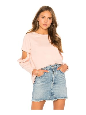 CENTRAL PARK WEST Clover Cut Out Ruffle Sweatshirt