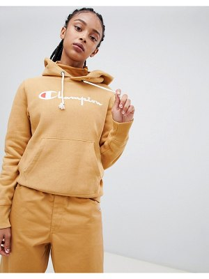 Champion boyfriend hoodie with front script embroidered logo