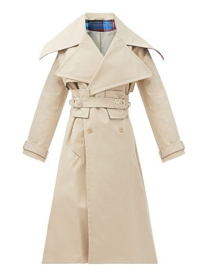 CHARLES JEFFREY LOVERBOY patter double-breasted cotton trench coat