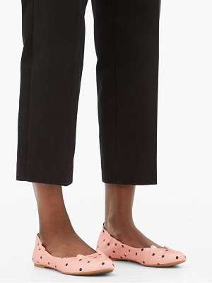 Charlotte Olympia kitty cat face-embroidered pumps