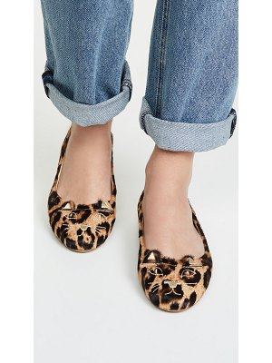 Charlotte Olympia kitty soft ballet flats