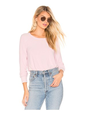 Chaser cropped reverse panel pullover