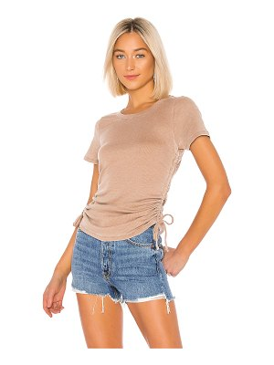 Chaser ruched drawstring side tee