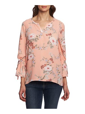 Chaus secret garden tie bell sleeve blouse