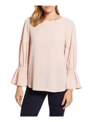 Chaus smocked sleeve blouse