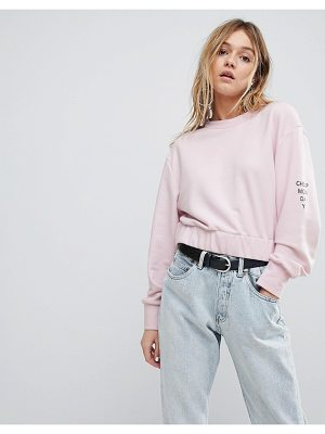 CHEAP MONDAY Crop Arm Logo Sweat