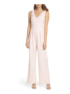 Chelsea28 bow shoulder wide leg jumpsuit