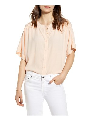 Chelsea28 button-up short sleeve blouse